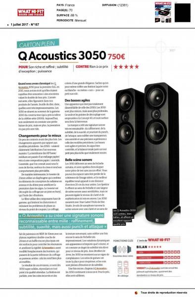 Q ACOUSTICS - ENCEINTE Q3050 - What Hi-Fi N°157