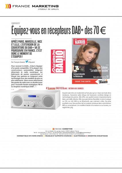 SCANSONIC - DA310 - Radio FM DAB+ Lecteur CD - La lettre.Pro Radio & Media N° 102