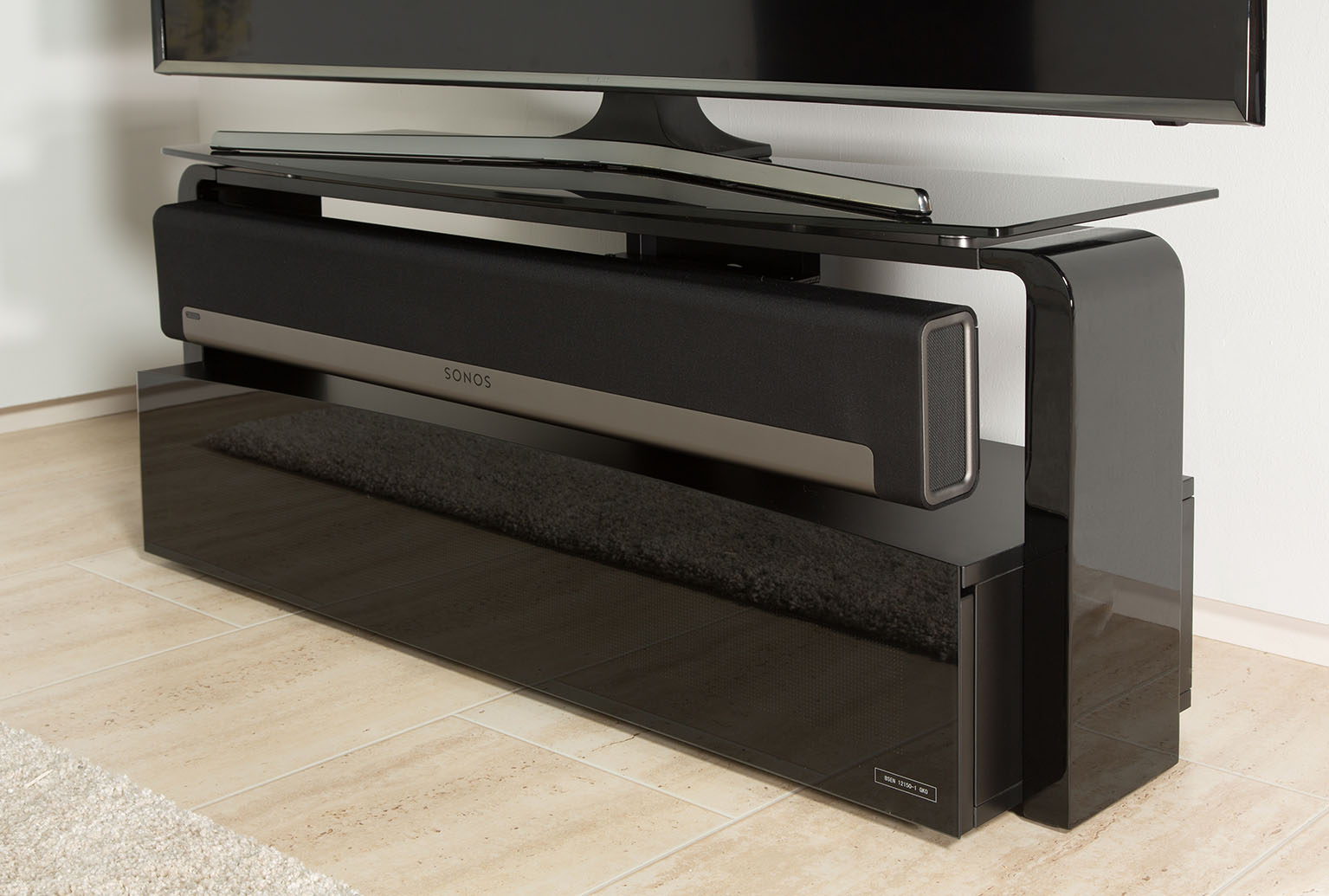 France Marketing Meubles Supports Sonos Aps As9001 Sonos Playbar # Meuble Tv Pour Barre De Son