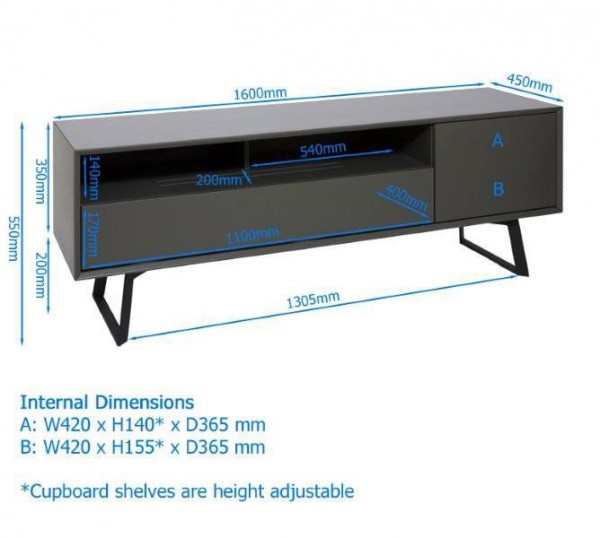 alphason-carbon-1600-tv-stand-dimensions